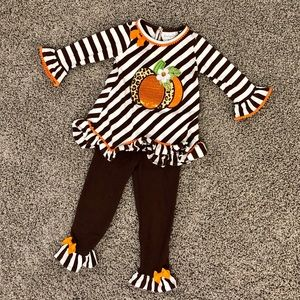Toddler girl Halloween or Thanksgiving outfit 3T